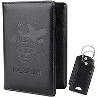 COCASES RFID Bloqueo de la Billetera del Titular del Pasaporte, Etiquetas de Equipaje, Cubierta de Pasaporte Multiusos…