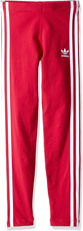 adidas Originals Kids Baby Girls Everyday Iconics 3-Stripes Leggings Toddler//Little Kids//Big Kids Unity Pink//White X-Large
