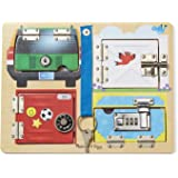 Melissa & Doug 19540 Locks and Latches Board Wooden Educational Toy