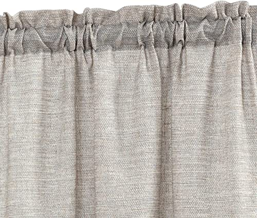 jinchan Tier Curtains Linen Textured 45 Inches Long Curtains for Kitchen Small Cafe Curtains for Window Treatment Set 2 Panels Grey