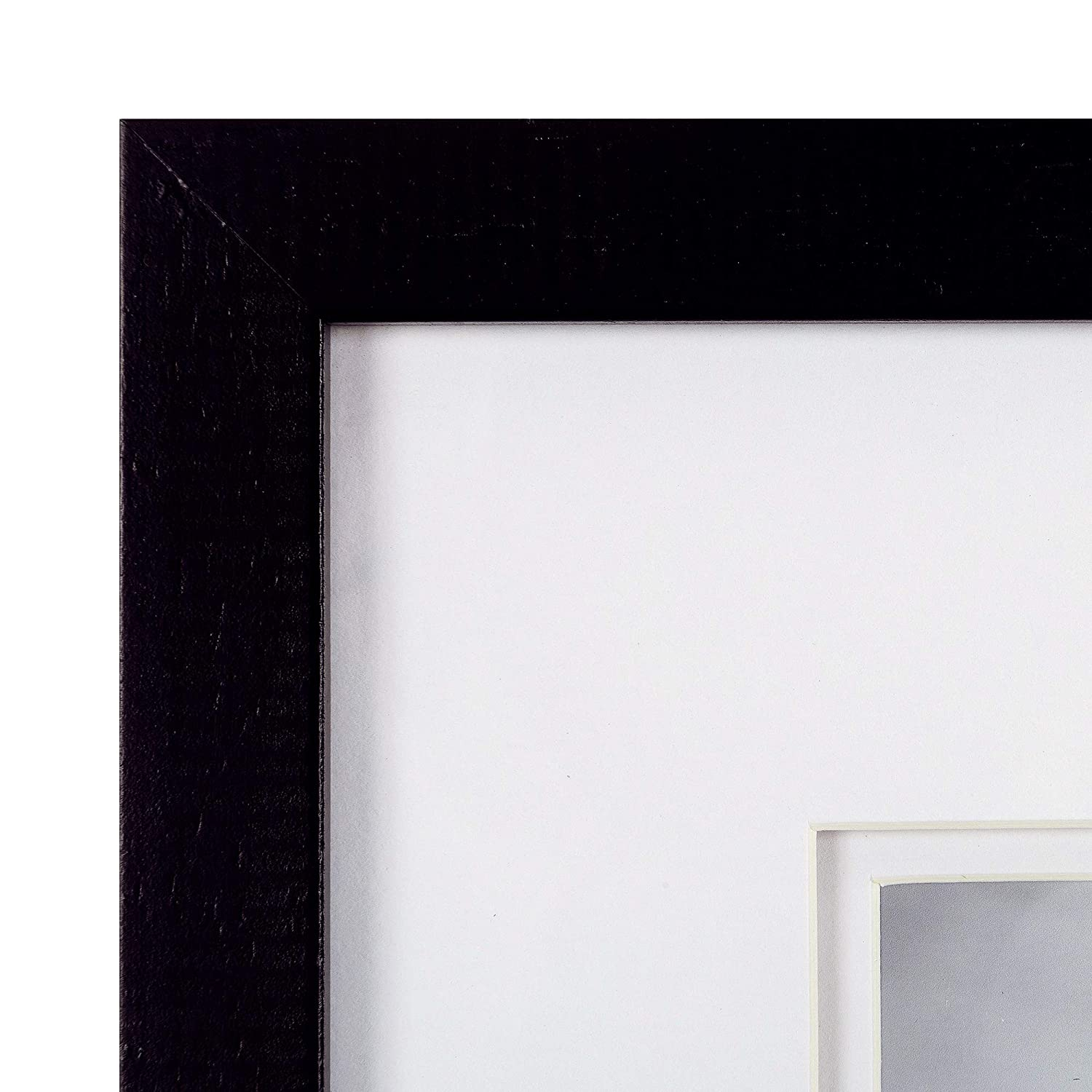 Frame Kit Small NBG Home 18FW1611A Everly Hart Set of 9 Piece Black Square Photo Double White Mat Wall Gallery