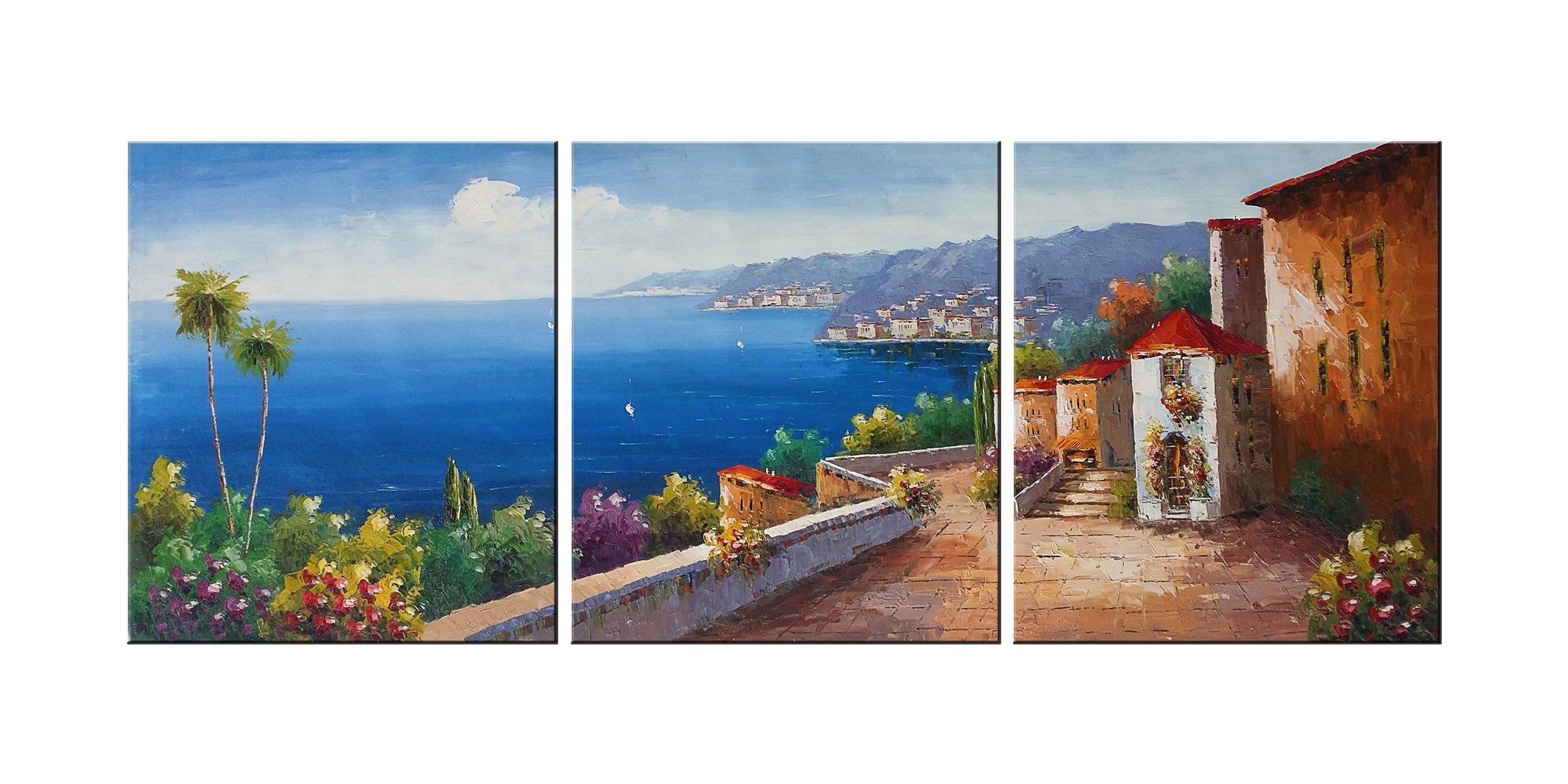 Canvas Wall Art Mediterranean Sea Artwork - 12\
