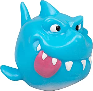 Hog Wild Sticky Shark - Squishy Toy Splats and Sticks to Flat Surfaces - Fidget Stress Ball - Age 4+