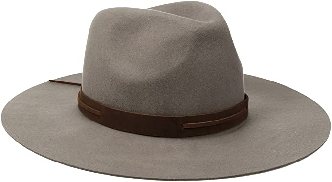 Brixton Mens Perkins Wide Brim Felt Fedora Hat Fedora - Brown ... 9a4d943a0bb