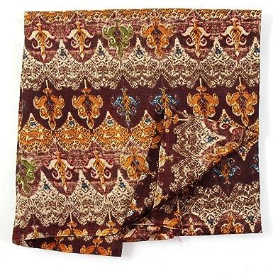 43cb0ce08690f Shopolics Cream-Yellow and Brown Floral Pattern Kalamkari Manipuri Silk  Fabric-16189 For Wedding