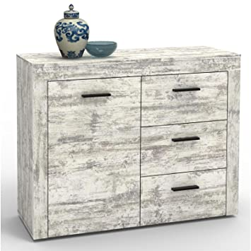 CARO-Möbel Kommode Sideboard Highboard RAY, Shabby Chic Vintage Look ...