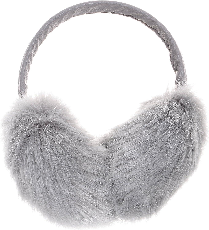 ZLYC Klassischer Damen M/ädchen Winter Ohrensch/ützer Ohrenw/ärmer aus Fauxfell Mit Verstellbarer PU Band