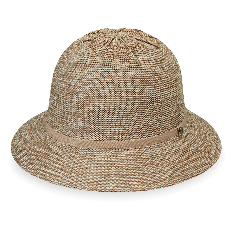 Wallaroo Hat Company Women's Tori Sun Hat - Mixed Camel - UPF 50+, New 2019