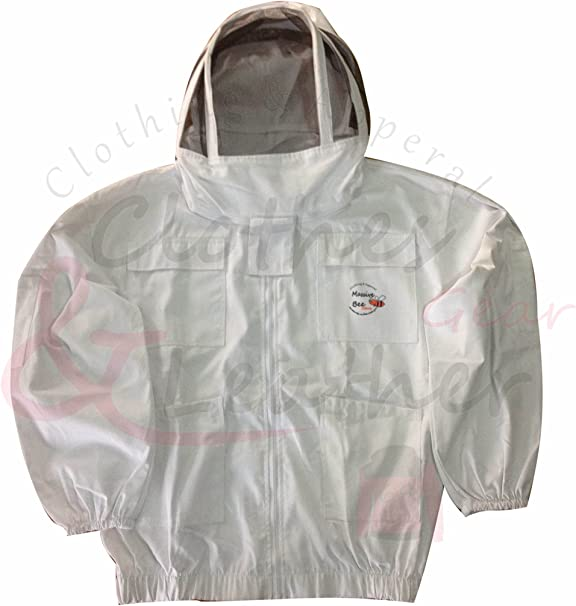 Beekeepers White Fencing Veil Suit 5XL Size
