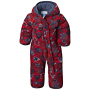 Columbia Baby Snuggly Bunny Insulated Water-Resistant Bunting, Red Spark Critters/Dark Mountain, 0-3 Months