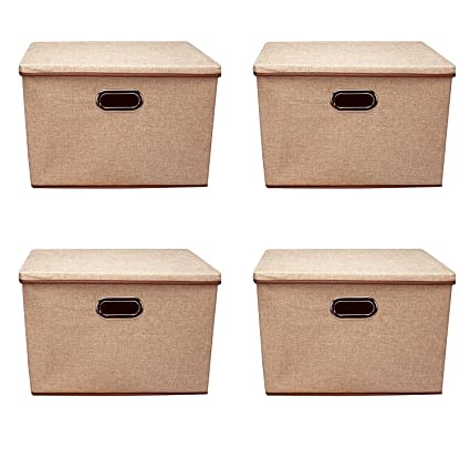 EAGWELL Storage Bins,Large Foldable Storage Containers With Removable Lid  And Handles,Storage Box