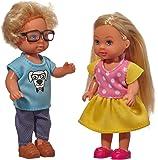 Simba 105737113 - Evi Love Puppe mit Freund Timmy am ersten Schultag