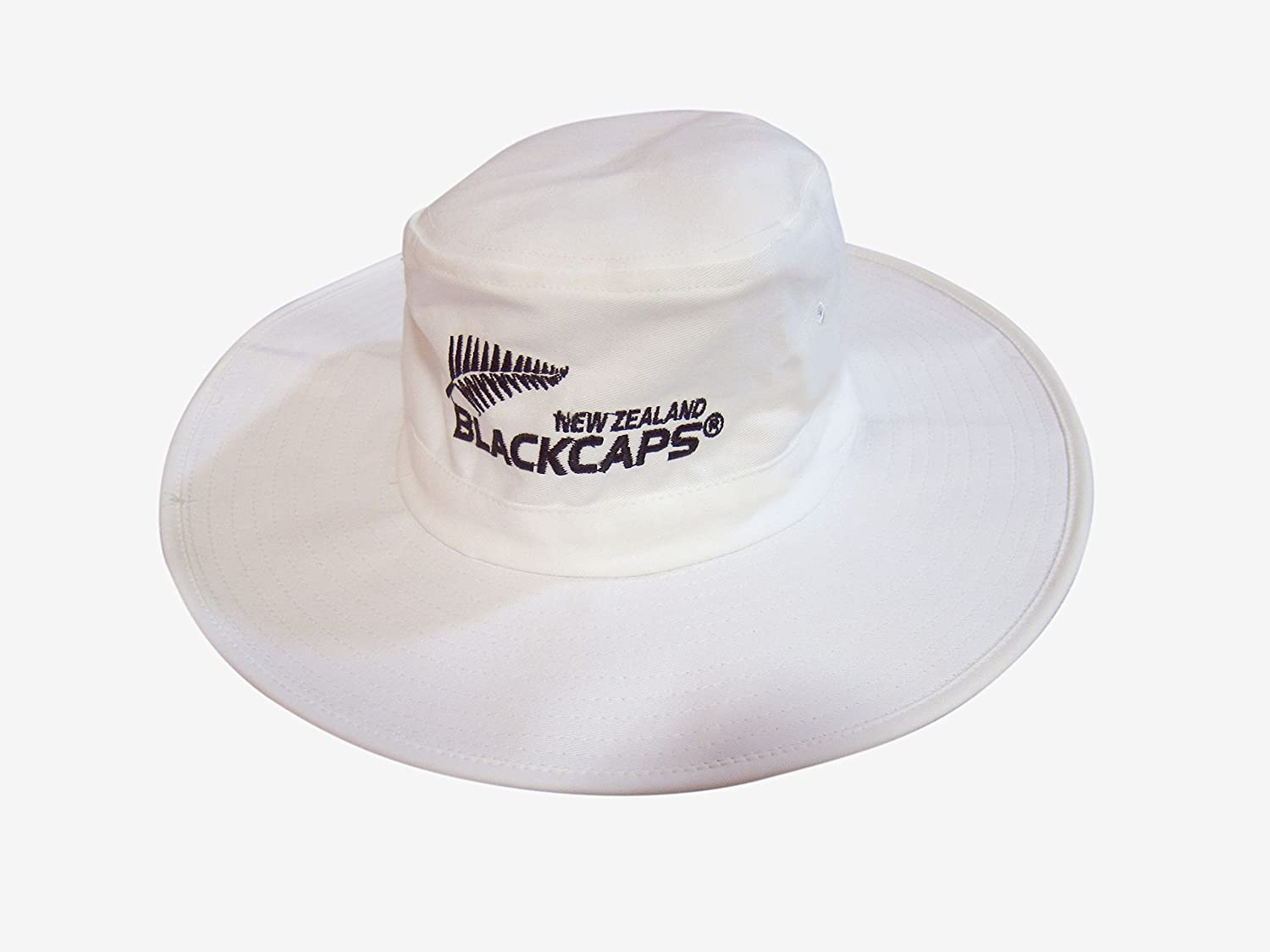 Adam Home MENS LARGE//XL WHITE CRICKET SUNHAT WITH NEW ZEALAND LOGO 59-60 CM