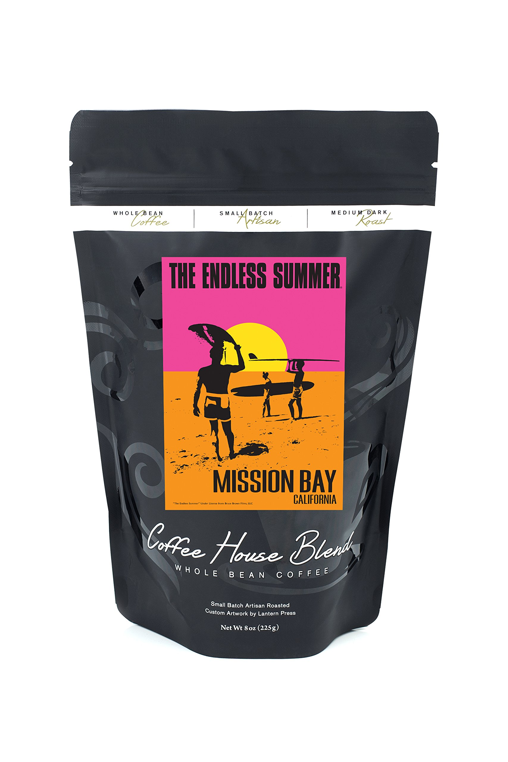 Mission Bay, California - The Endless Summer - Original Movie Poster (8oz Whole Bean Small Batch Artisan Coffee - Bold & Strong Medium Dark Roast w/ Artwork)