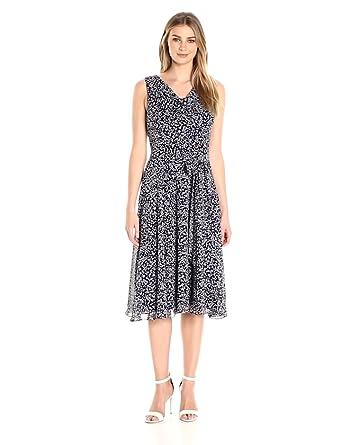7ac86c7e469 Jessica Howard Women s Drape Neck Fit   Flare Dress at Amazon ...