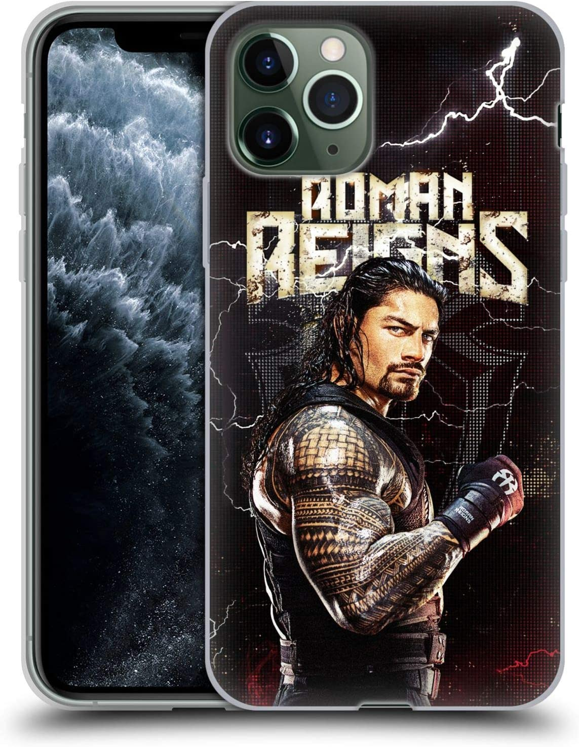 Head Case Designs Officially Licensed WWE Roman Reigns Superstars Soft Gel Case Compatible with Apple iPhone 11 Pro