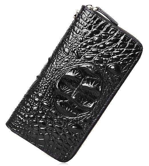 Amazon.com: PIJUSHI - Cartera de piel de cocodrilo para ...