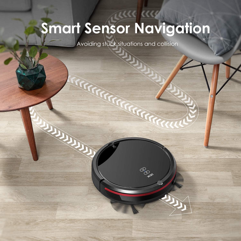 deik Robot aspirador, tiempo de robot aspirador con función de ...