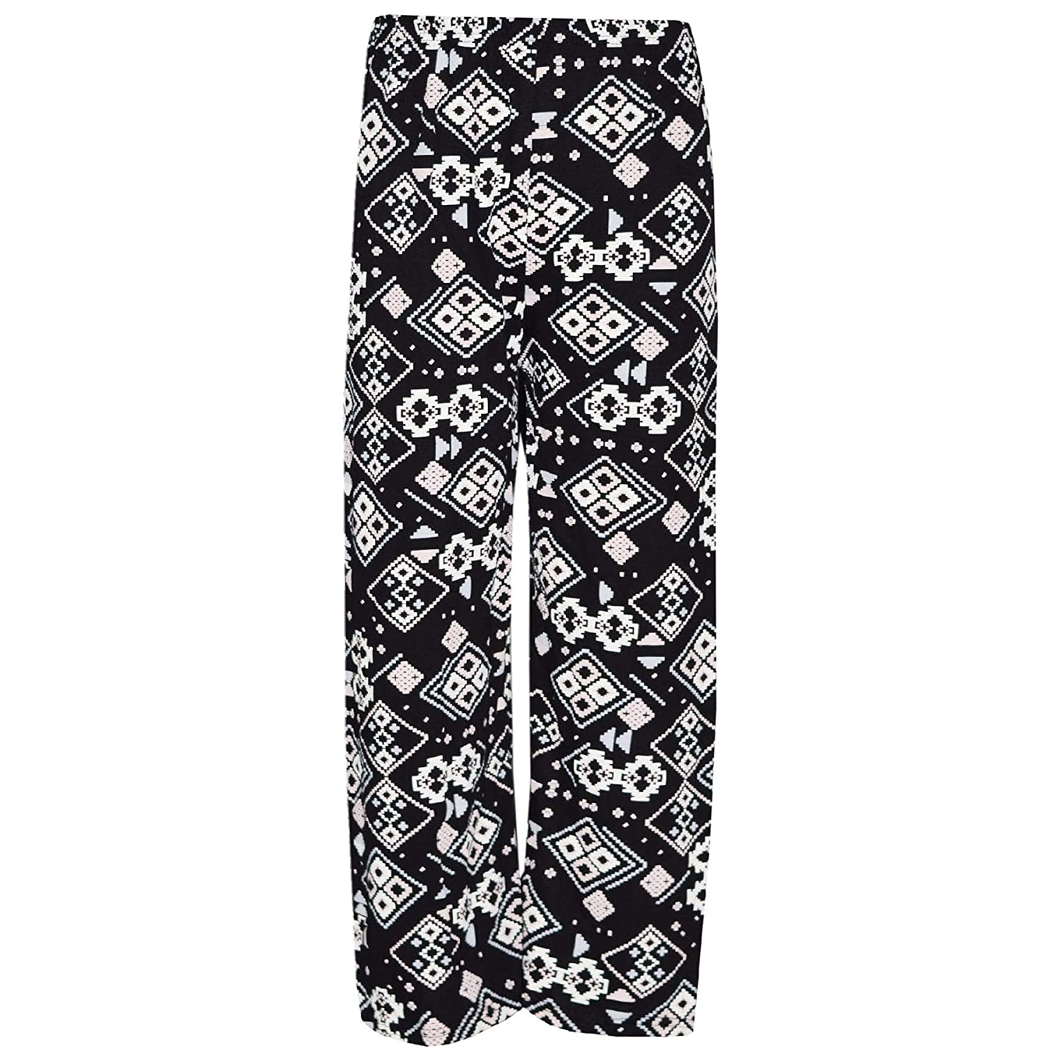 A2Z 4 Kids Kids Girls Palazzo Printed Flared Wide Leg High Waist Long Pants Summer Trendy Fashion Baggy Legging Loose Casual Trousers New Age 7 8 9 10 11 12 13 Years