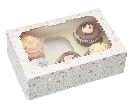 Sweetly Does It Kitchen Craft Cajas de presentación para cupcakes (papel, 2 unidades)