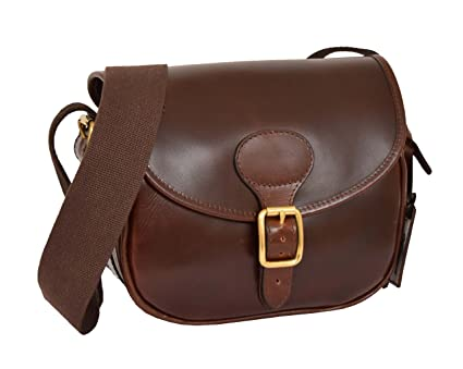 A1 FASHION GOODS Cartridge Bag Genuine Brown Leather Ammo Shell ...