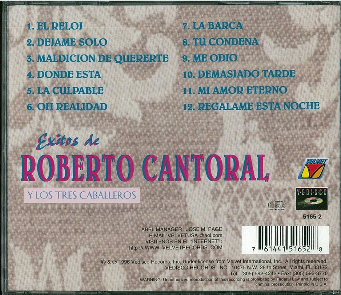 Roberto Cantoral - Exitos De - Amazon.com Music
