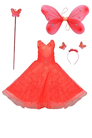 2ef1c40ed752c ahhaaaa Blended Baby Girl's Angel Pari Dress/Christmas Gown: Amazon.in:  Clothing & Accessories