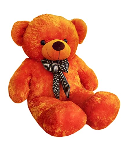 Webby 3 Feet Huggable Teddy Bear with Neck Bow (Brown)