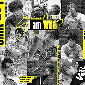 Stray Kids - I am WHO [RANDOM ver ] (2nd Mini Album) CD+Photobook+3 QR  Photocards+On Pack Poster+Official Group Folded Poster+Extra Photocard