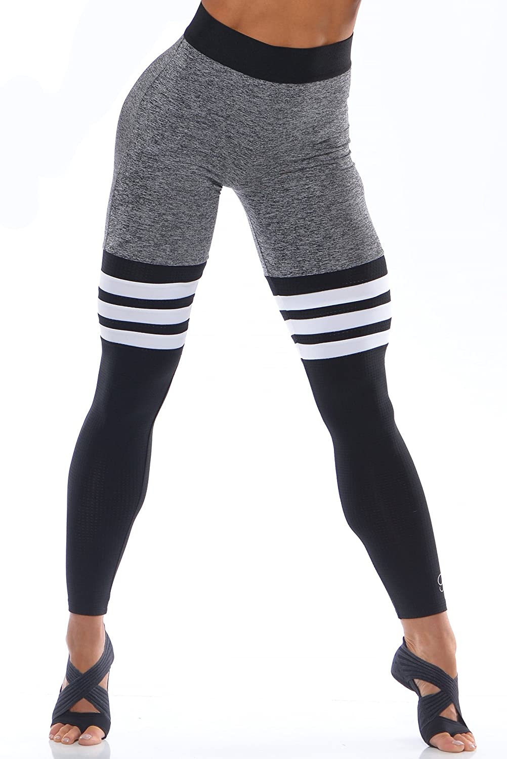 biggest selection new list shopping Bombshell Sportswear - High-Waist Thigh-High - Grey/Black