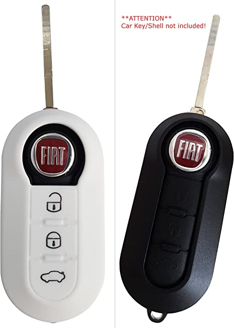 Für Fiat 500 Bravo Panda Schlüssel Hülle Schutzhülle Etui Cover Rosa