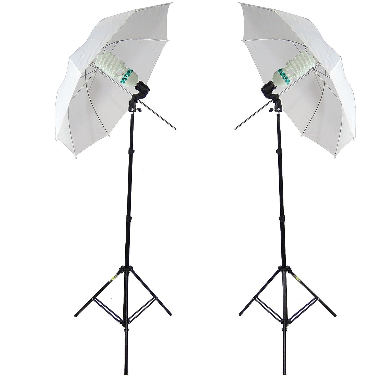 DynaSun 2-in-1 E27 Stativaufsatz Doppel Lampenhalterung inklusive Schirmhalter fü r Studio Foto Video schwarz 10225 MM2