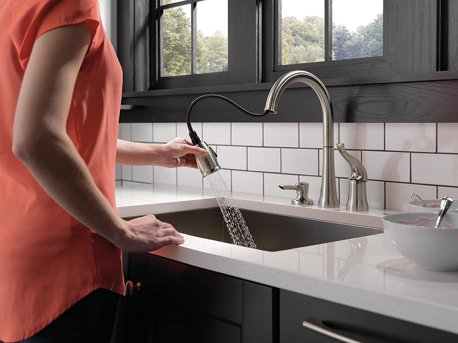 Merveilleux Delta 16970 SSSD DST Kate Single Handle Pull Down Kitchen Faucet With  Magnetic Docking Spray Head, Stainless   Touch On Kitchen Sink Faucets    Amazon.com