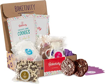 Bake Delicious Bagels with Pre-Measured Ingredients Baketivity Kids Baking DIY Activity Kit Includes Free Hat and Apron Best Gift Idea for Boys and Girls Ages 6-12
