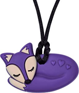 Munchables Fox Sensory Chew Necklace (Dark Purple - Stronger Version)