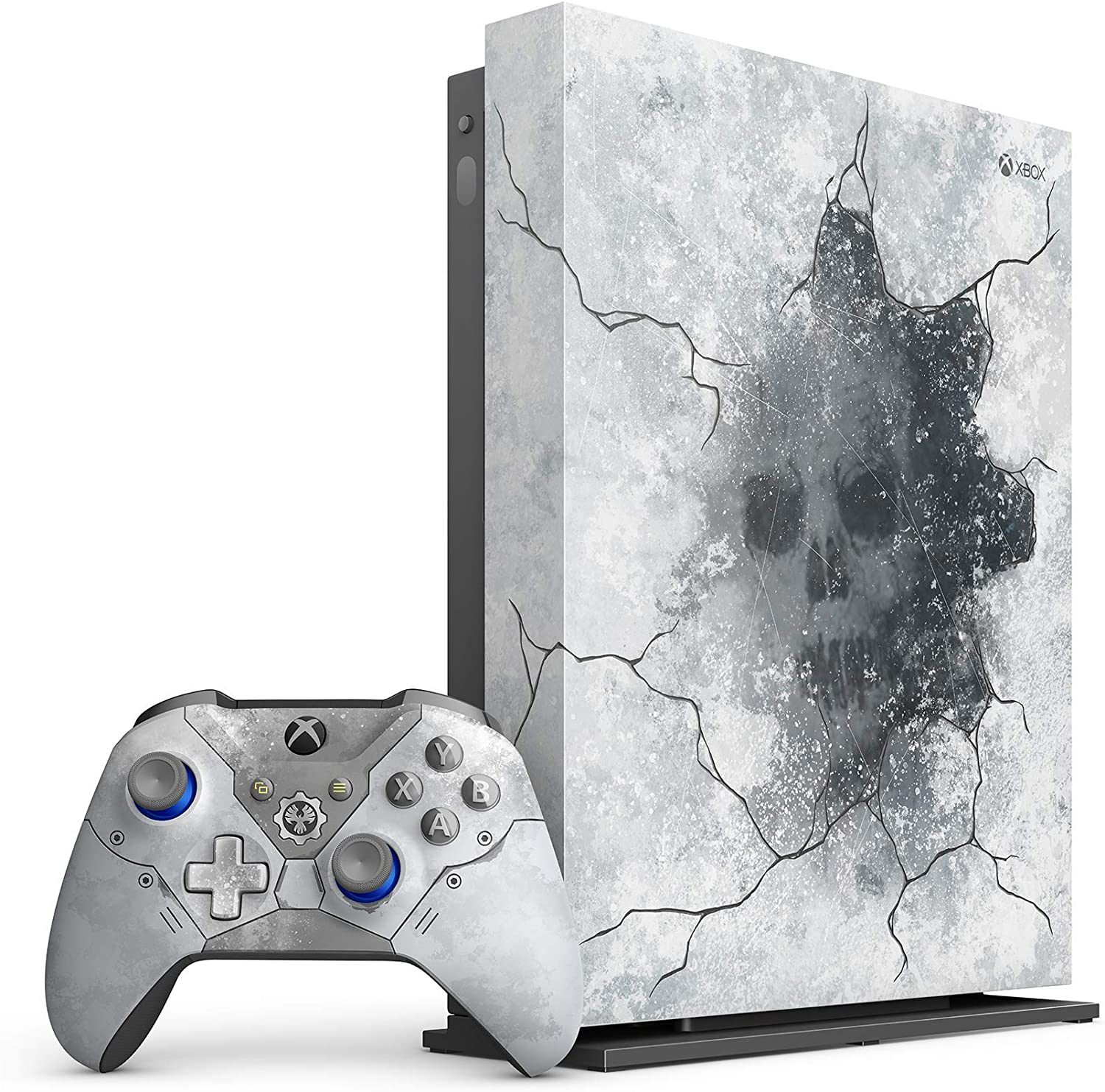 Microsoft - Xbox One X 1TB Gears 5 Limited Edition Arctic Blue Consola con soporte vertical Xbox One X, 1 mes Xbox Live Gold y Game Pass – Juegos no incluidos (enchapado): Amazon.es: Electrónica