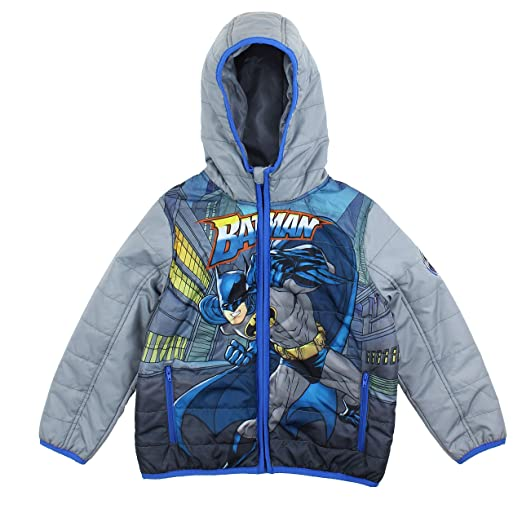 9c53a7e1e Amazon.com  DC Comics Boys Batman Puffer Hoodie Jacket (Batman