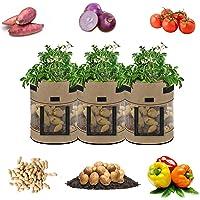 Bolsas de Cultivo para Patatas,Bolsa de Cultivo de Plantas ,con Ventana de visualización de 360 ° y Asa Transpirables…