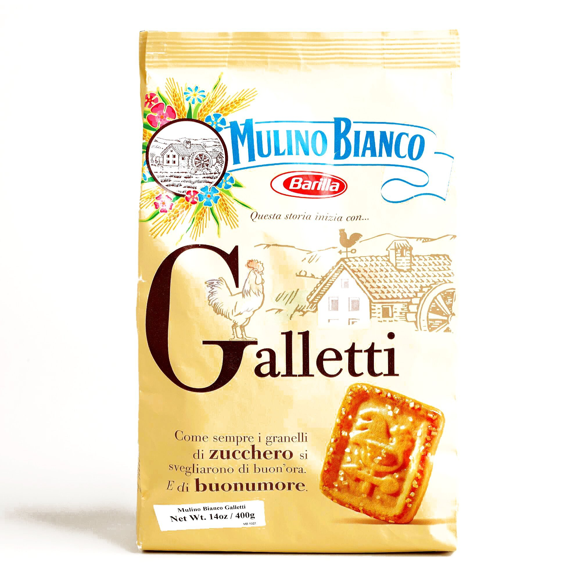 Mulino Bianco Galletti Cookies 14.1 oz each (2 Items Per Order) by Mulino Bianco