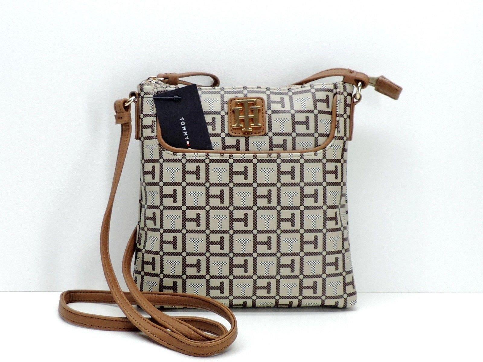 Tommy Hilfiger Brown Signature Crossbody Handbag