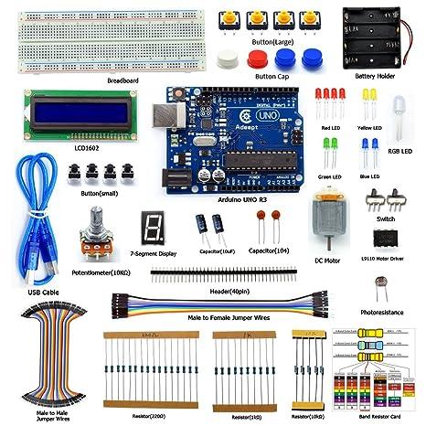 amazon com adeept starter kit for arduino uno r3 lcd1602 rh amazon com arduino uno manual book arduino uno manual download
