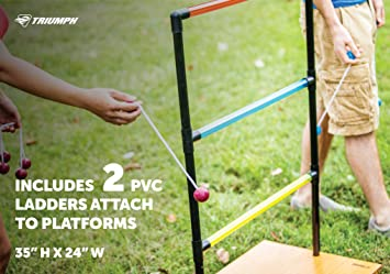 Amazon.com : Triumph Sports Trio Toss Deluxe - 3-in-1 Ladder Toss, Washer Toss and Cornhole Game : Toss Games : Sports & Outdoors