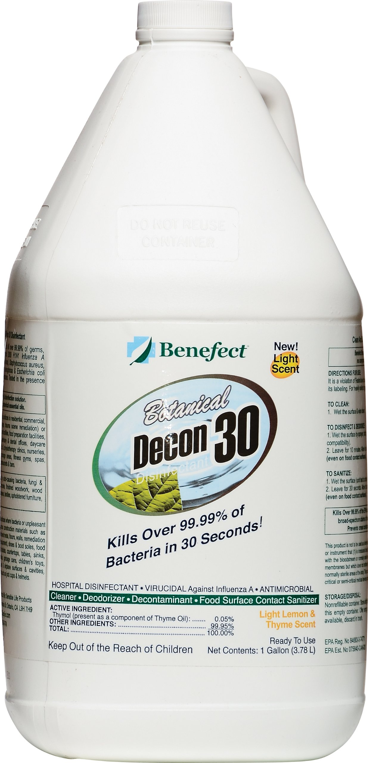 Benefect CD33GL Botanical Decon 30