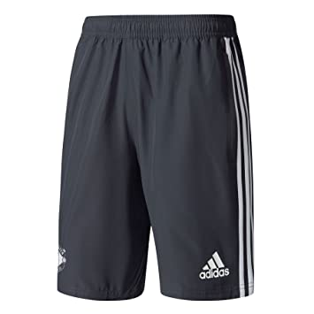 adidas Men's Manchester United FC Wov Shorts, Grey, X-Small