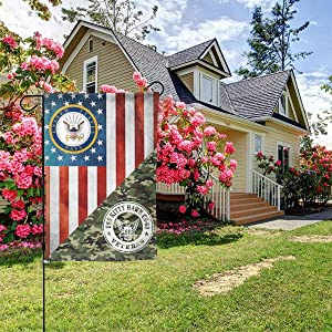 US Navy USS Intrepid CVS-11 Ship Veteran Garden Flag Welcome Banner for Patio Lawn Party Yard Home Outdoor Decor, On Both Sides, 12.5
