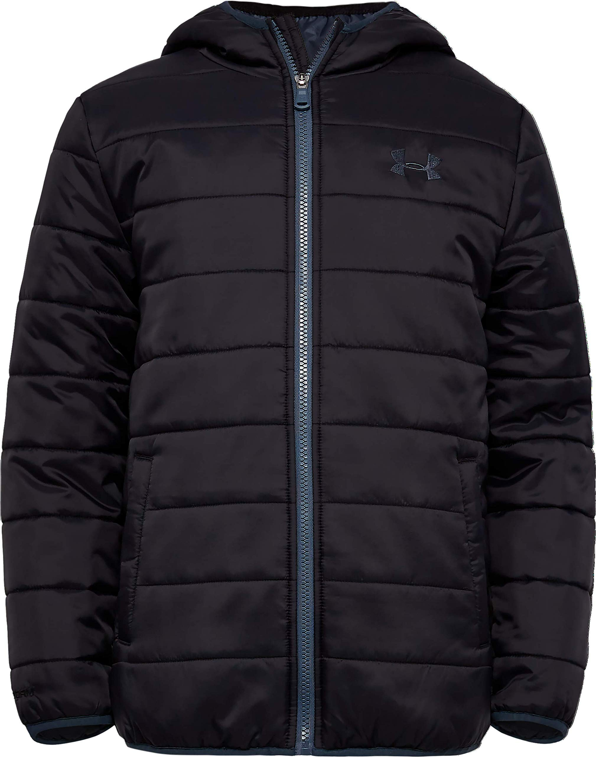Under Armour Boys' Big Pronto Puffer Jacket, Black F, YLG by Under Armour