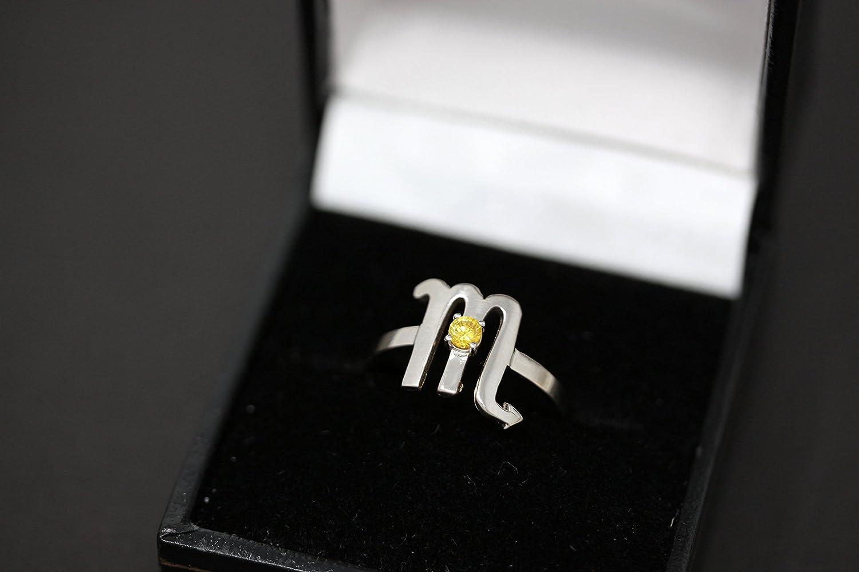 Size 7.25 Scorpio Zodiac Ring Handmade Sterling Silver