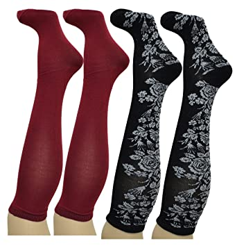 feb1f8c7722 Image Unavailable. Image not available for. Color  Charter Club Women s socks  Bamboo Blend Soft knee high 2 Pack Black Burgundy