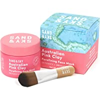 Sand and Sky Australian Pink Clay Porefining Face Mask with Applicator