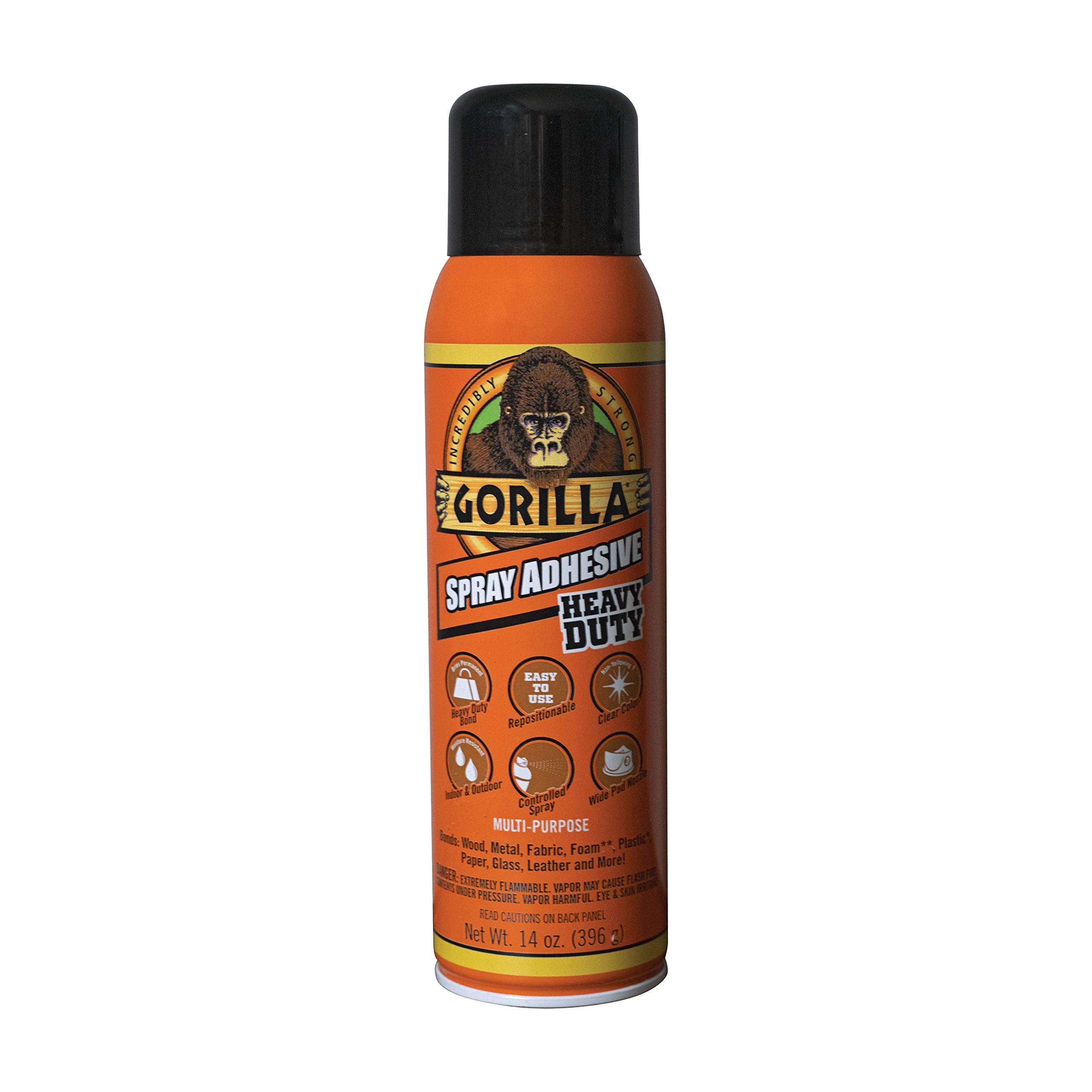 Gorilla 6301502 Spray Adhesive 14oz, 1-Pack, Clear